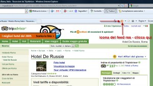 icona feed rss tripadvisor explorer