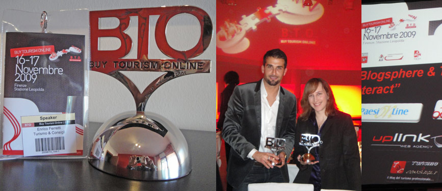 BTO award 2009 - Best Touristic Blog