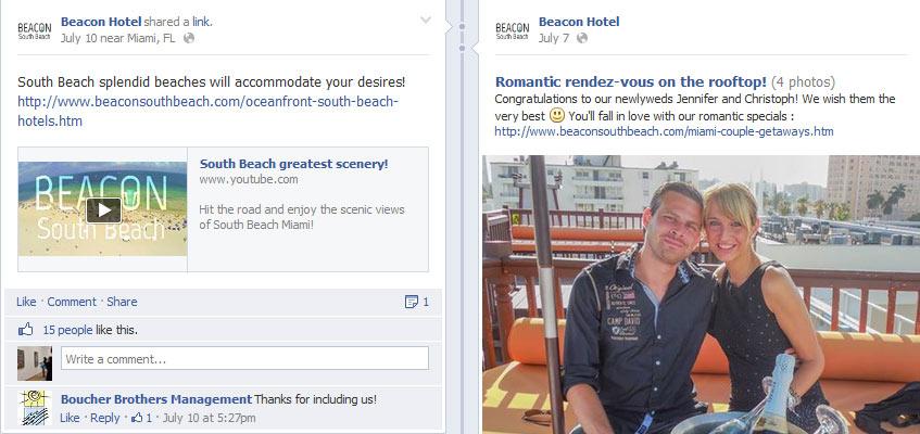 facebook x hotel