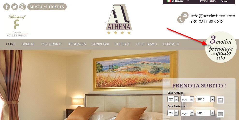 Athena Hotel bollino persuasivo