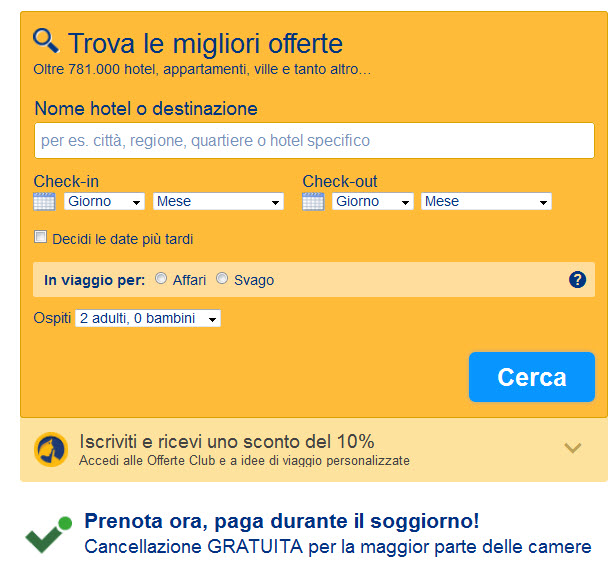 bookingcom meccanismi persuasivi