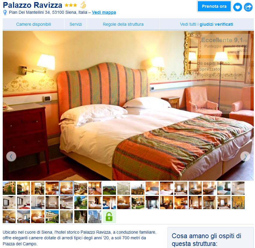 Booking scheda hotel
