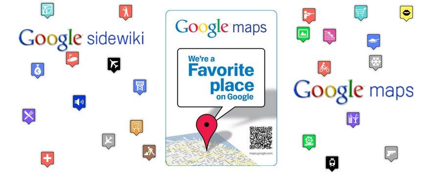 google-sidewiki-favourite-place